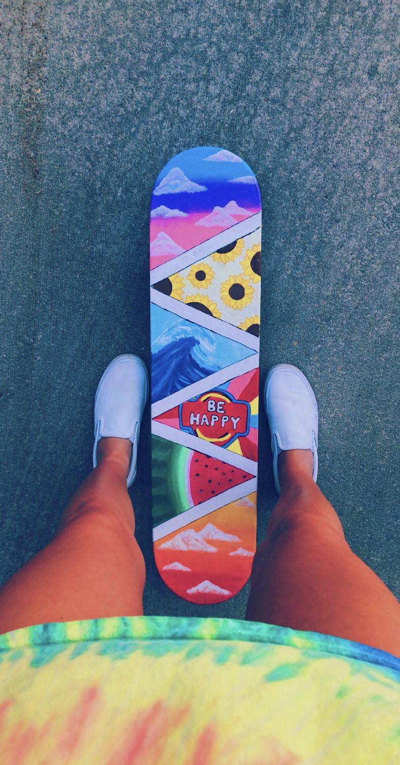 Happy Vibe Skateboard Pinterest Caitmcelwee Vsco Pictures