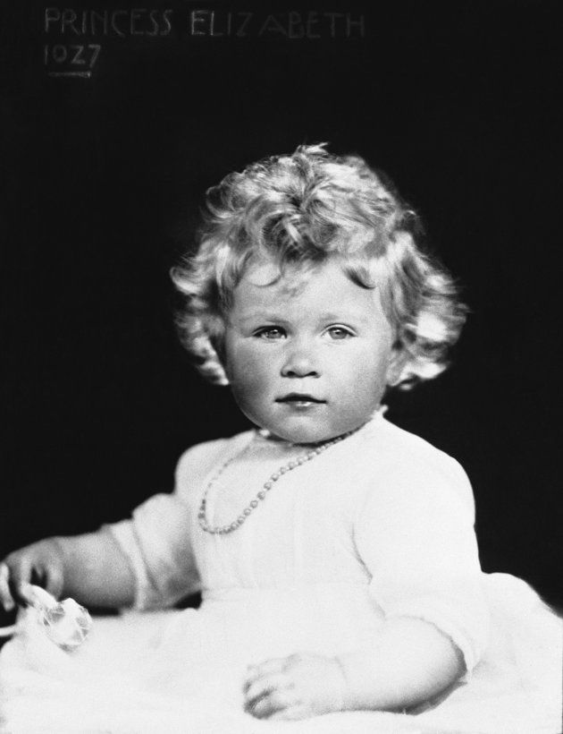 1927: Queen Elizabeth as a one year old.