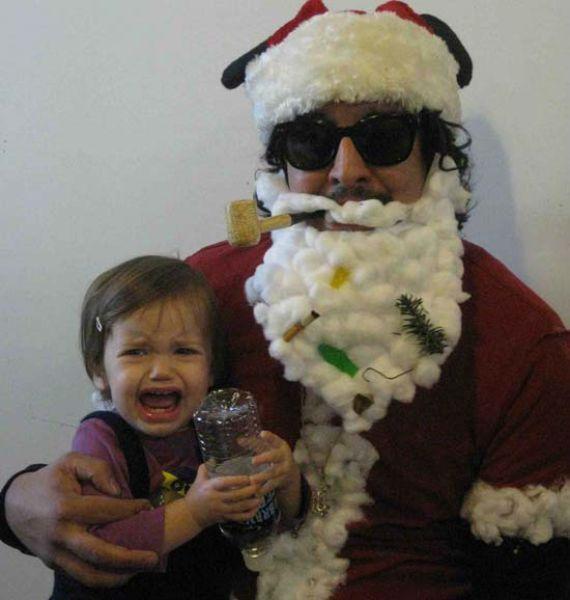 Scary Santa Claus Costume Creepy Christmas