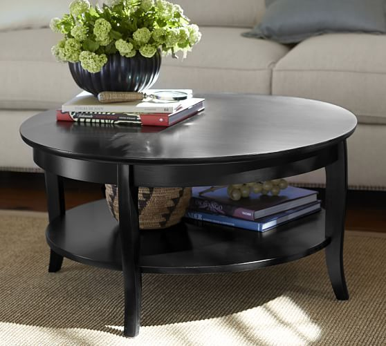Chloe Foyer Table : Pottery barn chloe round coffee table brown or black