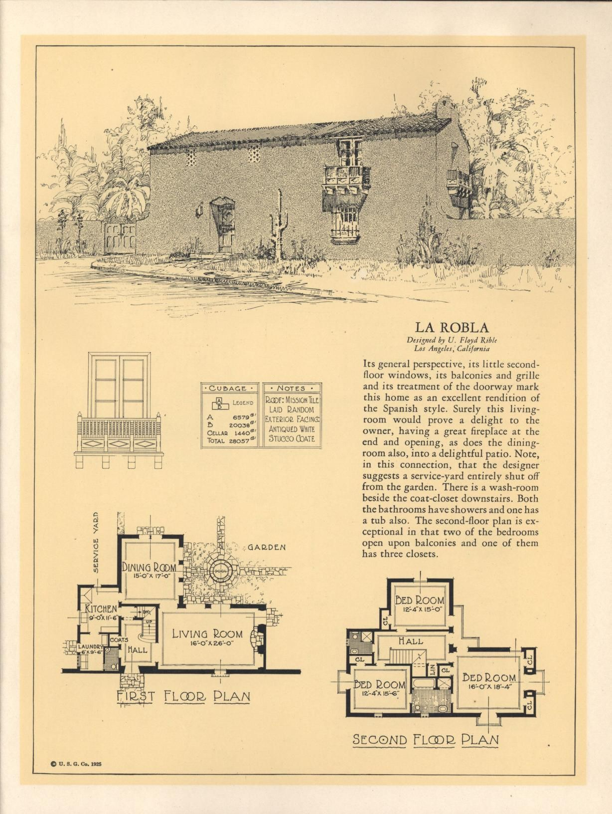 Seventy Two Designs For Fireproof Homes United States Gypsum Co Free Download Borrow A Vintage House Plans Architectural House Plans Spanish Style Homes