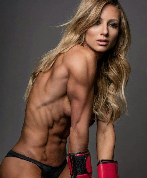 blonde female muscle Nude