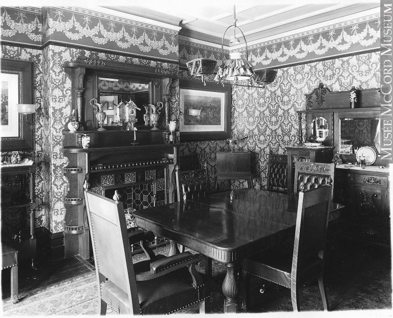 Canadian Dining Room Furniture Plans dining room, mrs. foster's house, montreal, qc, 1897"