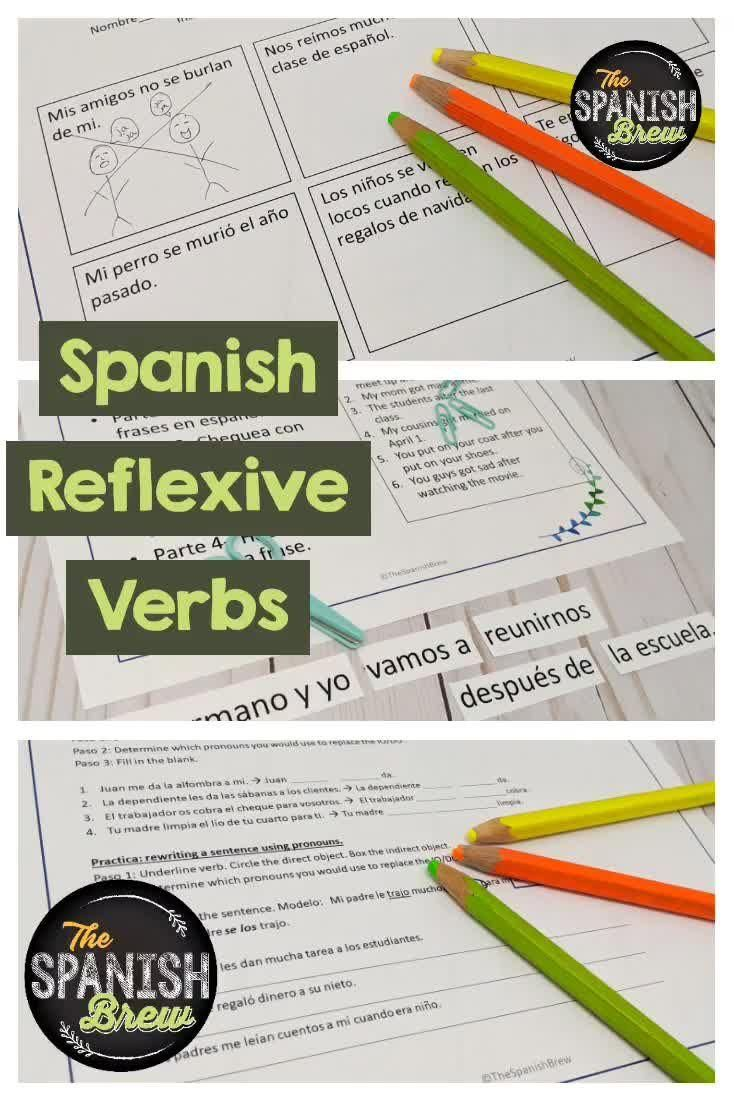 Spanish Worksheets Guided Notes On Reflexive Verbs Video Video Spanish Students Teaching Spanish Guided Notes [ 1102 x 734 Pixel ]