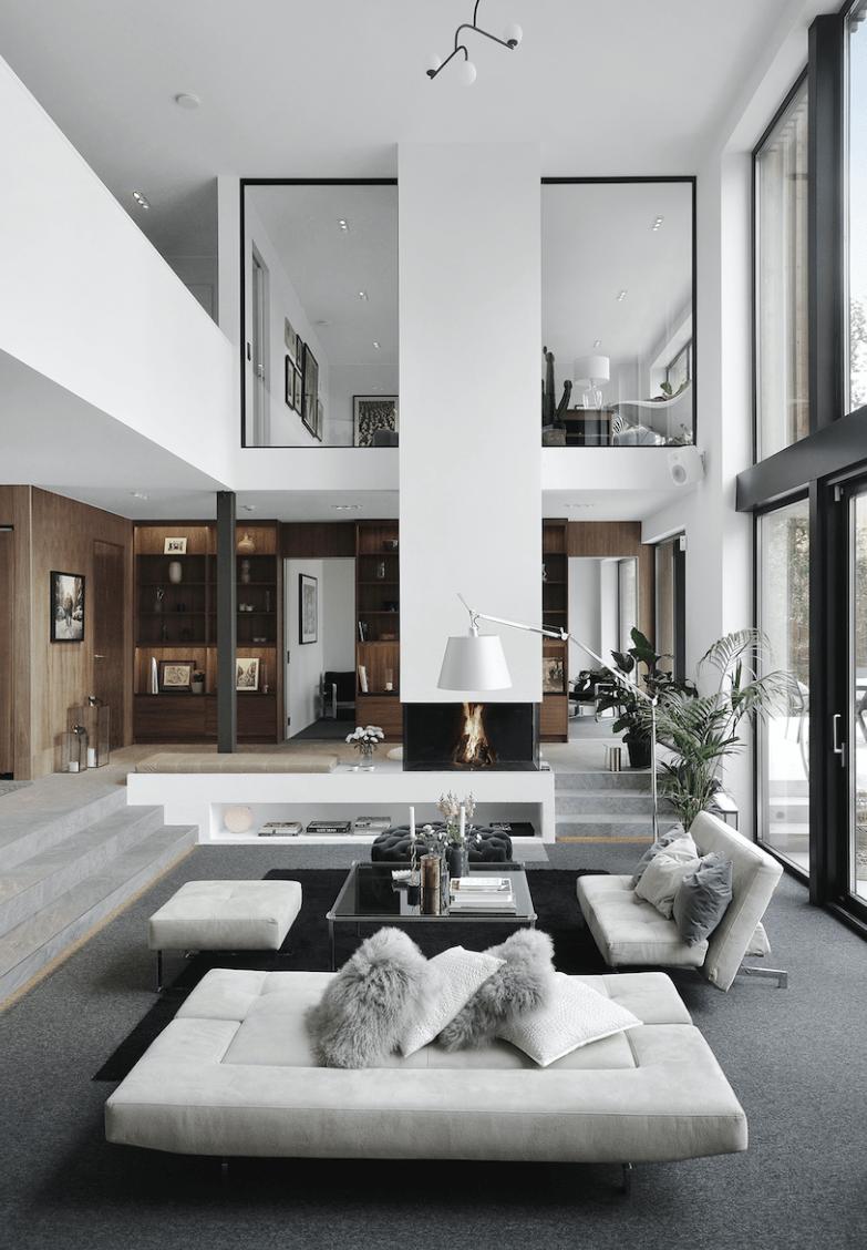 Home Decor Categories : Halloween Mantle Decorations. - walk in closet  villa en suecia villa de luj… in 2020   Modern houses interior, Modern  house design, House interior
