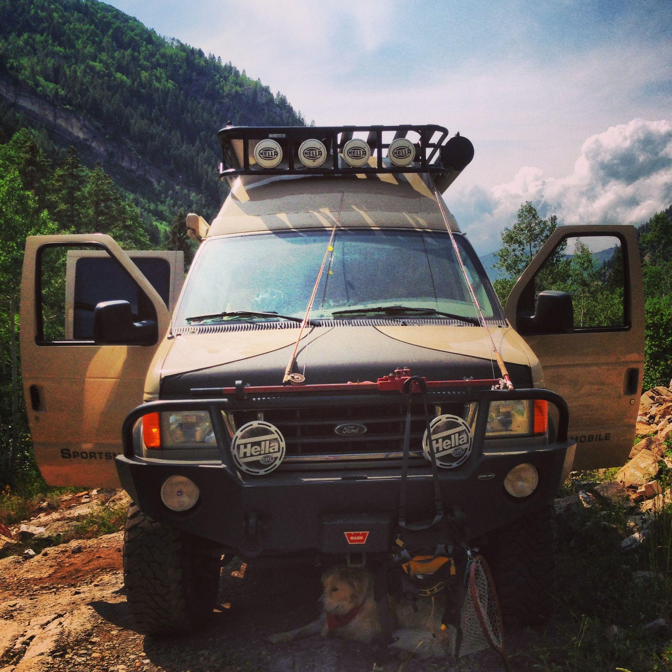 The Sportsmobile Is Our Ultimate Flyfishing Getaway Vehicle Aluminess Front Bumper And Roof Rack 4x4 Van Sportsmobile Van