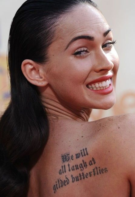Cute Celebrity Tattoo Quotes We All Laugh At Gilded Butterflies