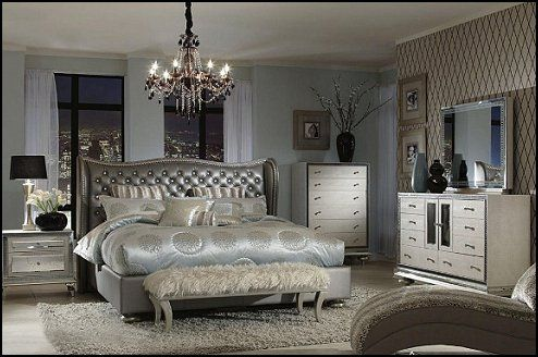 Hollywood Glam Style Bedrooms Vintage Old