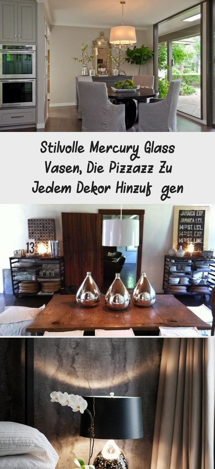 Photo of Stylish Mercury Glass vases that add Pizzazz to any decor #plants …