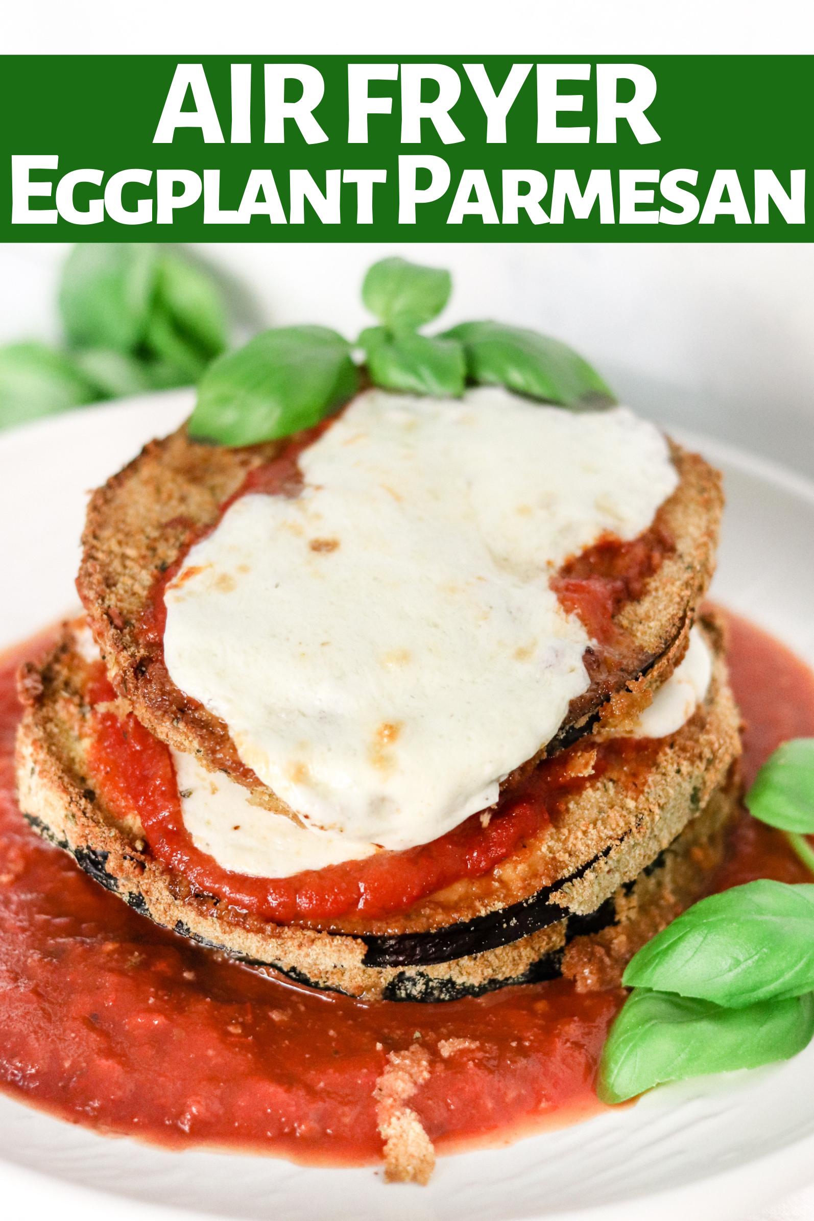 Air Fryer Eggplant Parmesan No Oil Recipe In 2020 Health Dinner Recipes Eggplant Parmesan Air Fryer Recipes Easy