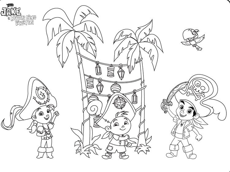 Captain Jake and The Neverland Pirate Coloring Pages Check more at ...