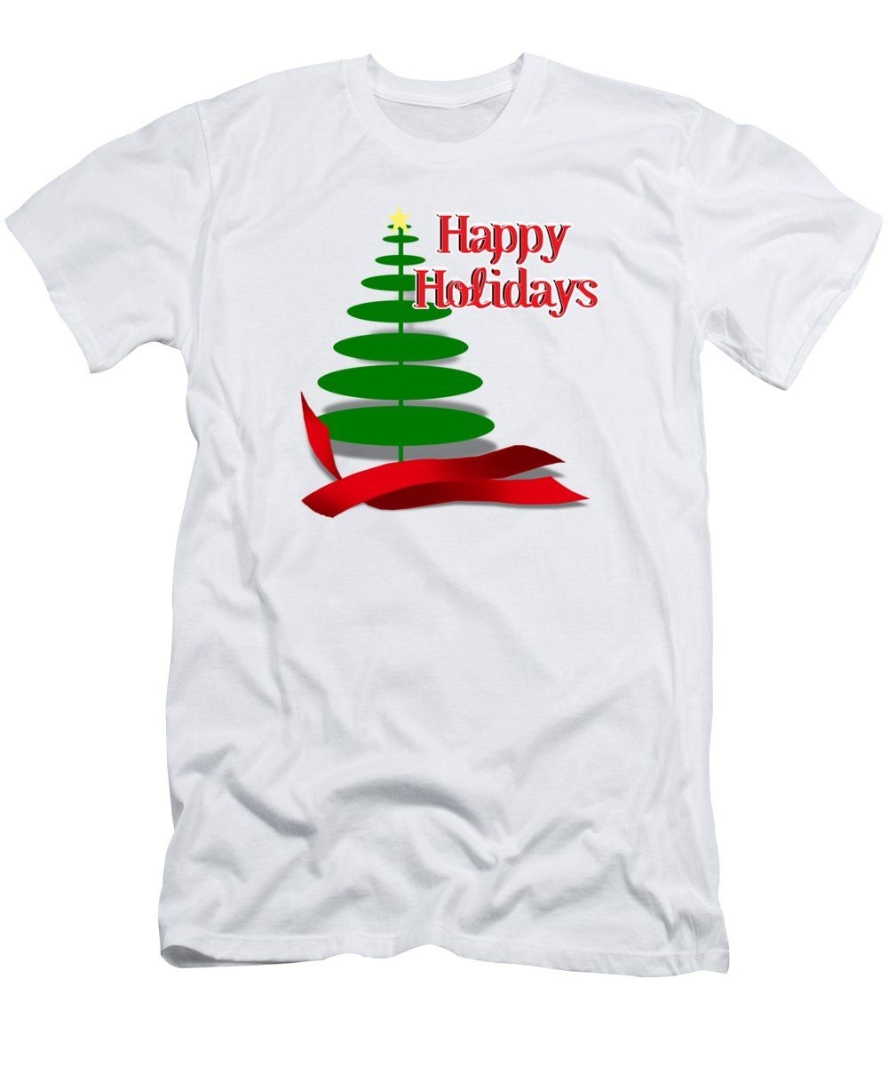 Christmas Tree With Red Ribbon T Shirt For Sale By Gravityx9 Designs Funny Christmas Tree Christmas Tee Shirts Holiday Shirt Ideas