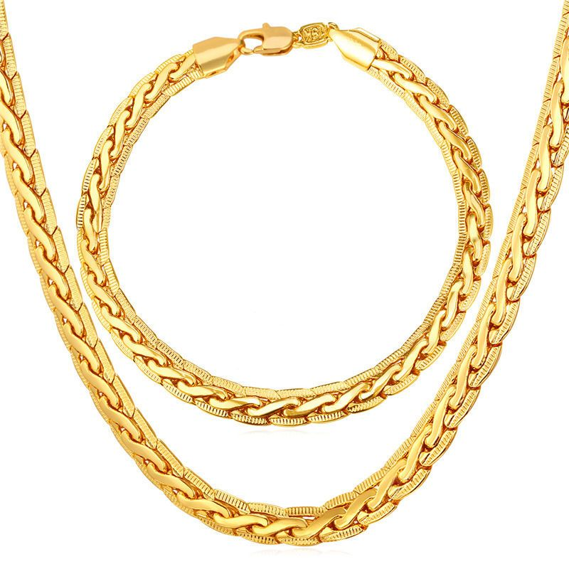 gold steel jewelry tone chains curb chain necklace s stainless men pin size