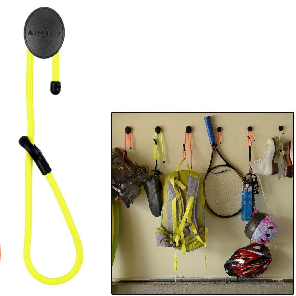"""Nite Ize Gear Tie 12"""" Dockable Twist Tie - Neon Yellow"""