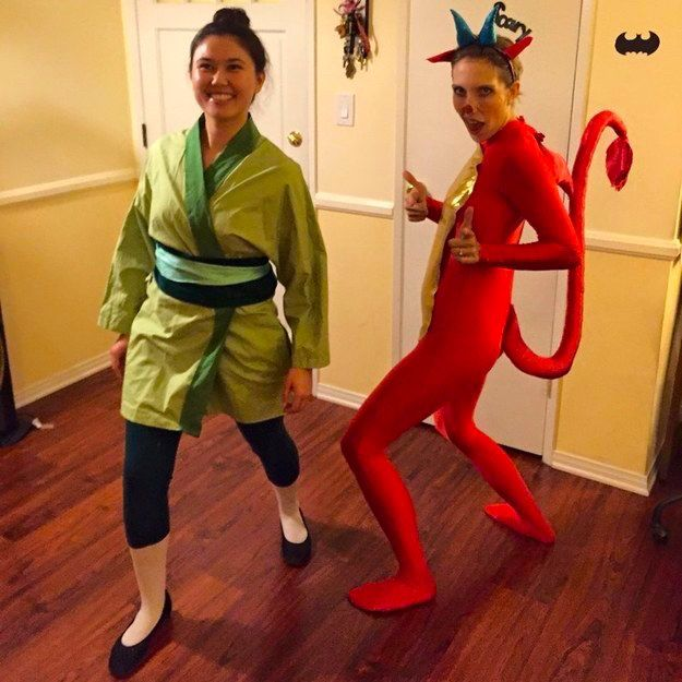 Mulan and mushu this is halloween party pinterest costumes mulan and mushu 29 magical costumes every disney fan will want solutioingenieria Image collections