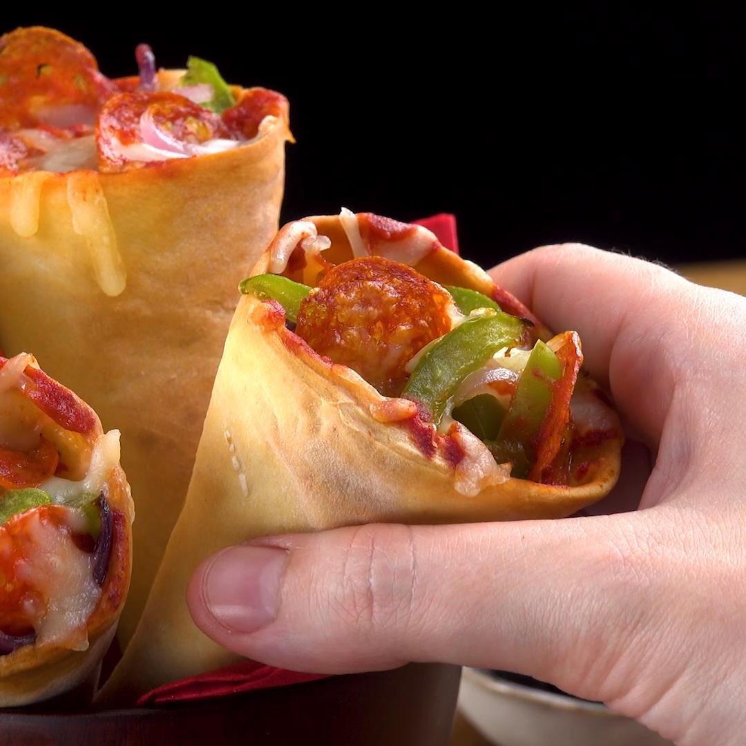 Pizza-Hörnchen #schnellepartyrezepte