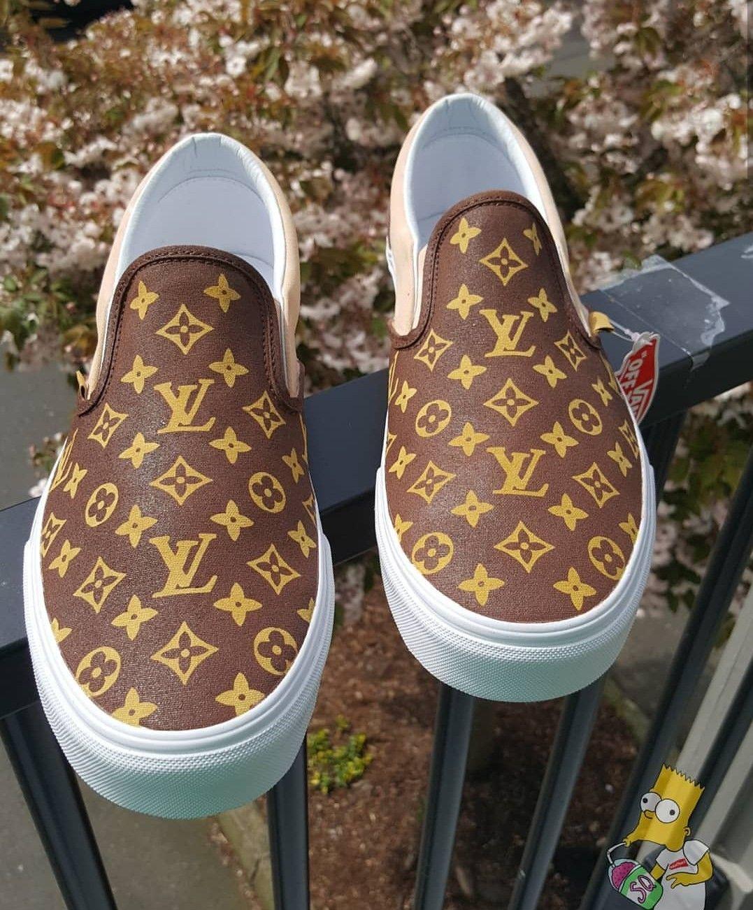 Custom Louis Vuitton Vans Slip om