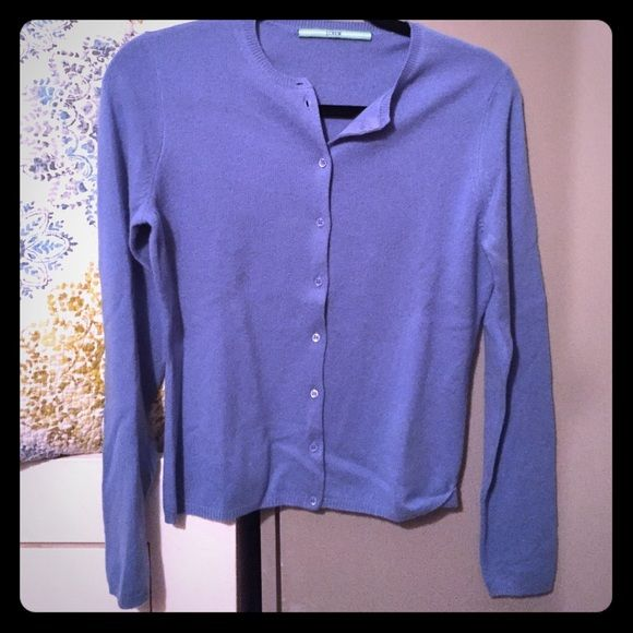 J Crew powder blue cashmere cardigan sweater | Cashmere and ...