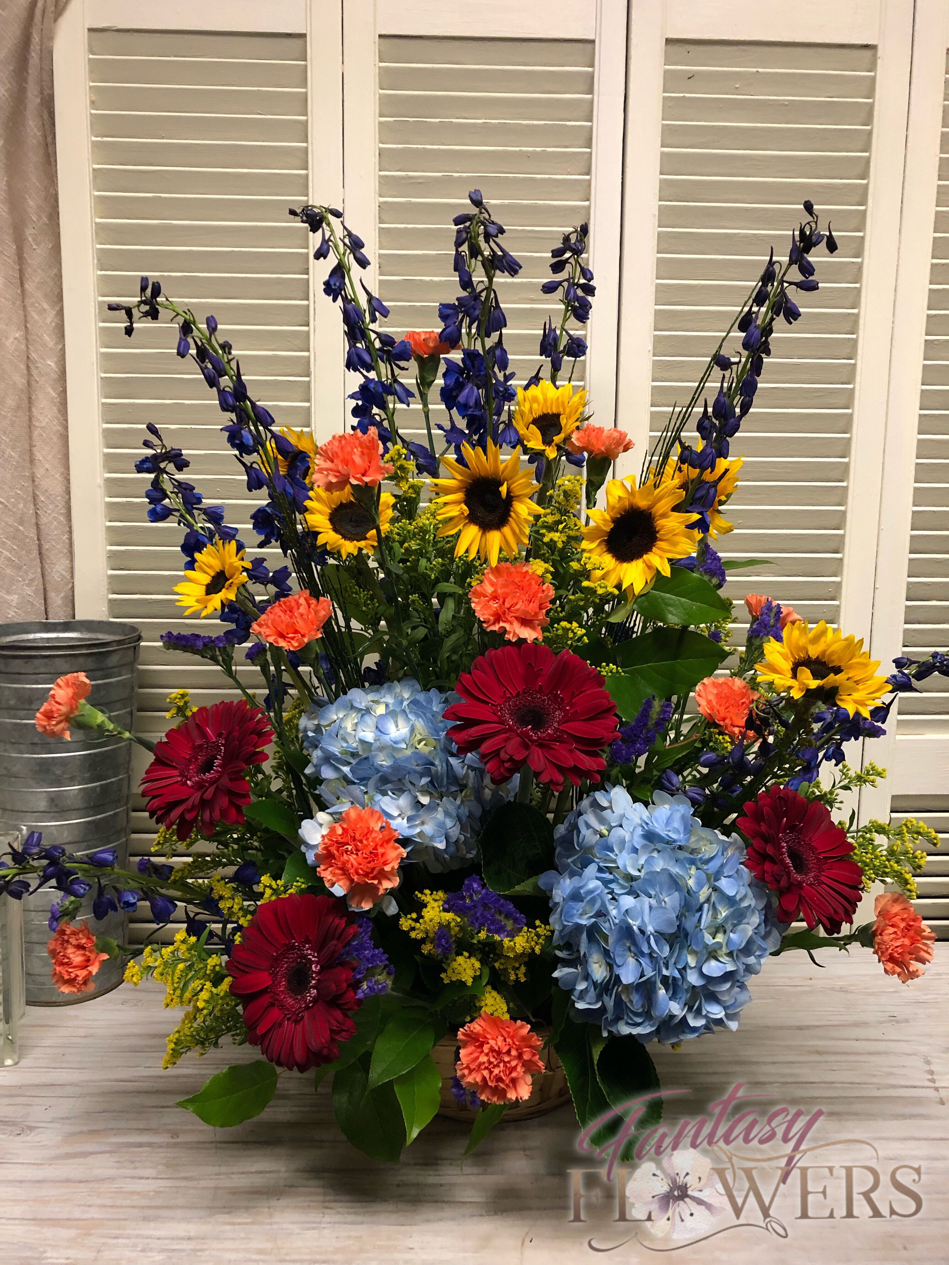 Beautiful stately sympathy flowers delivered fresh