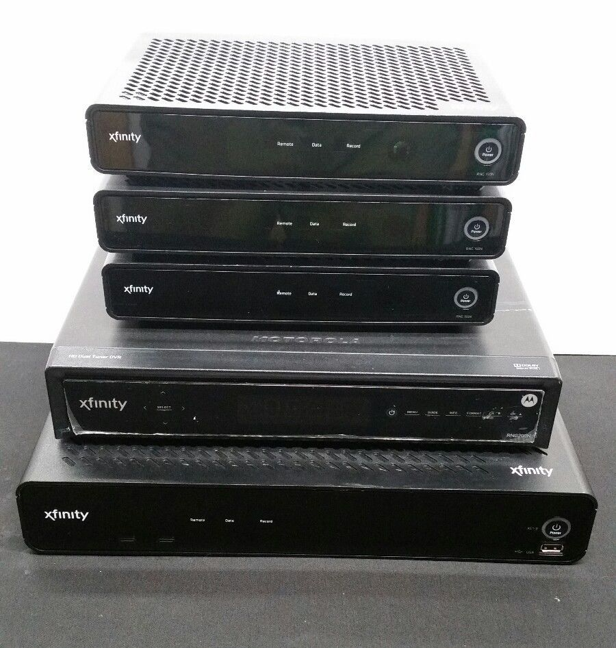 COMCAST XFINITY CABLE BOX LOT #XG1P x1 #RGN150N x3 #RNG200N