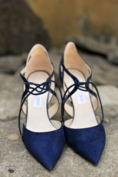 Navy suede for your something blue. | Rustic + Romantic Napa Valley Wedding
