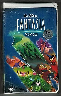 Disney Fantasia 2000 New Factory Sealed VHS Prerecorded Videotape Family Movie