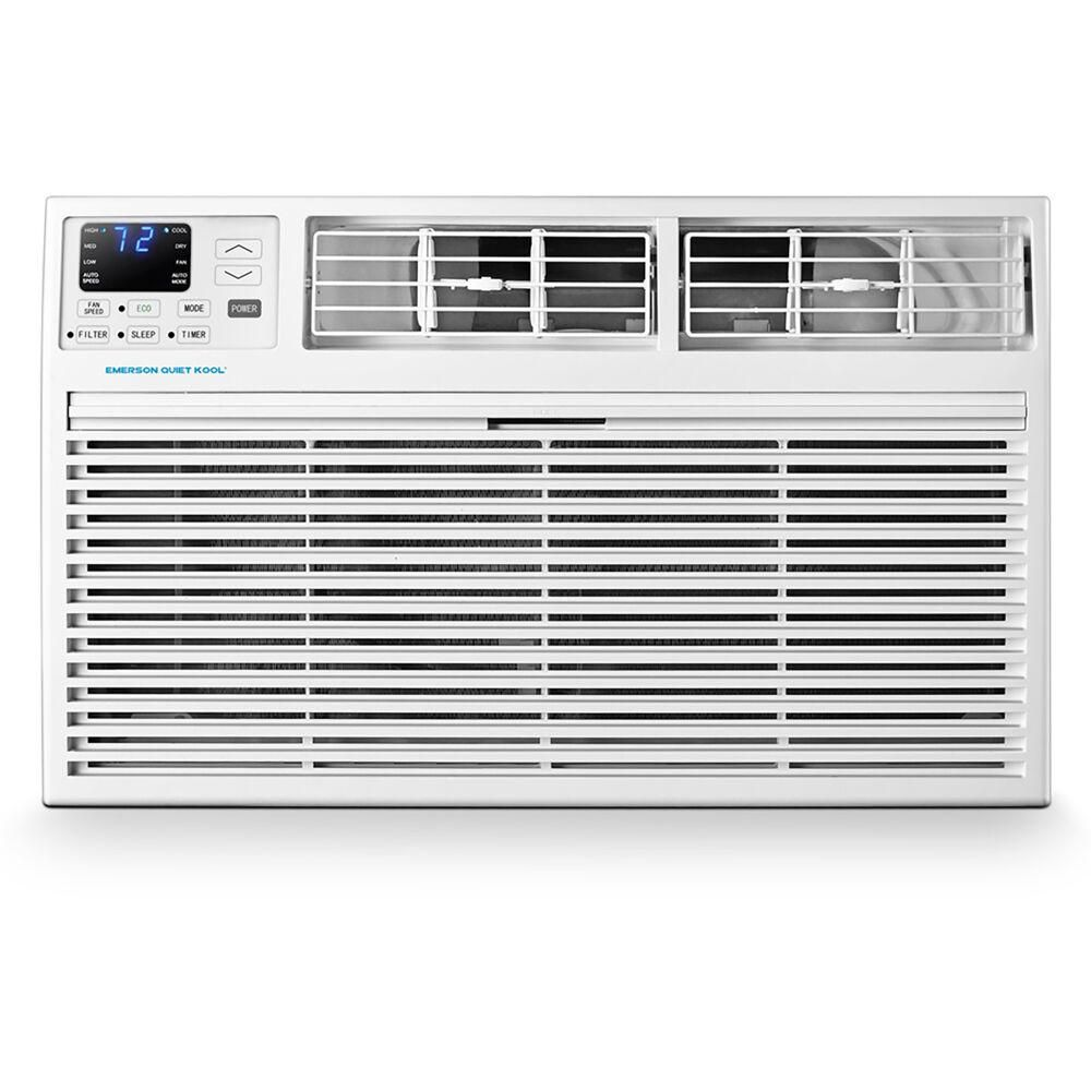Emerson Quiet Kool 14 000 Btu 230 Volt Through The Wall Air Conditioner With Remote Control Eatc14rd Wall Air Conditioner Air Conditioner Smart Air Conditioner