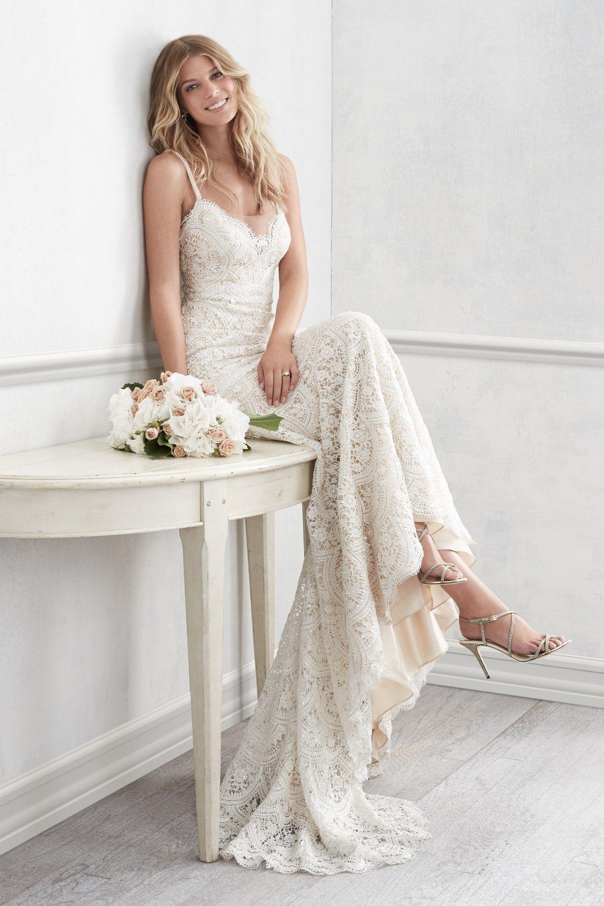 Simple off white wedding dresses  Wtoo by Watters Elise B Wedding Dress  Watters  Pinterest