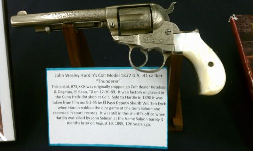 john wesley hardin gun