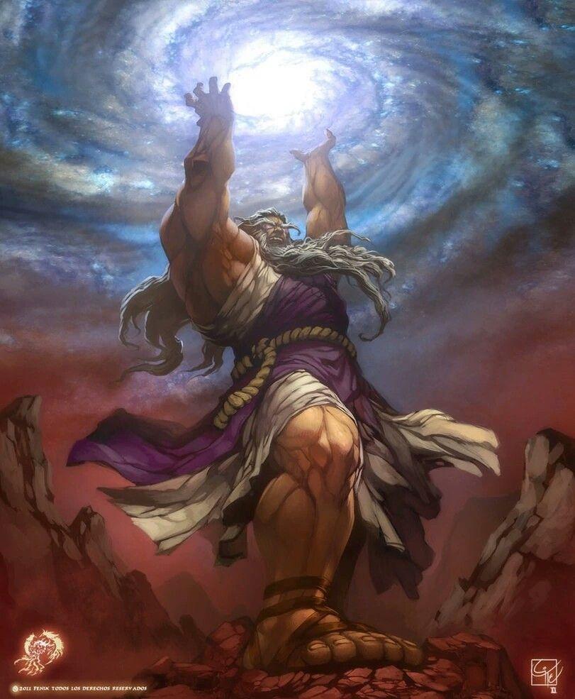 Cronos, fils d'Ouranos et Gaïa, Roi des Titans et père de ...