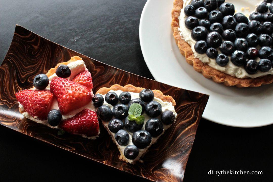 Photo of Fresh summer fruit in mascarpone tarts.