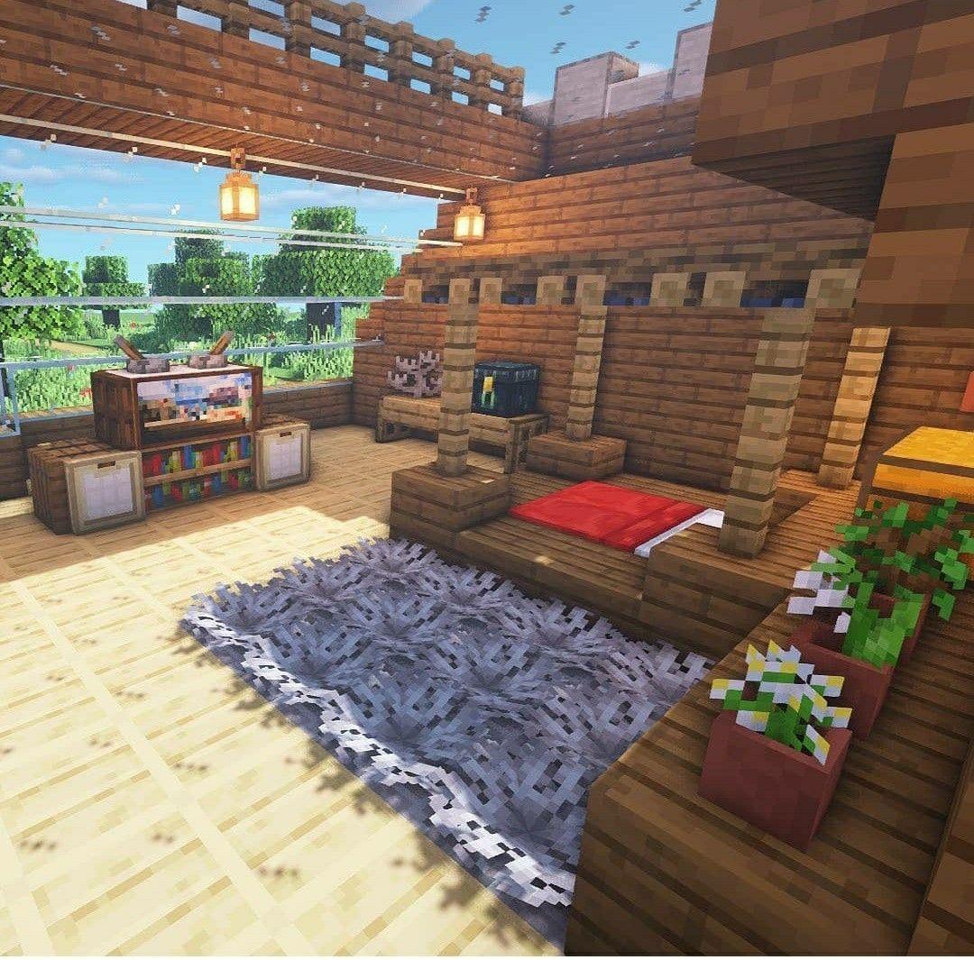 #Minecraft #Bedroom #Ideas in 2020 | Minecraft houses ...