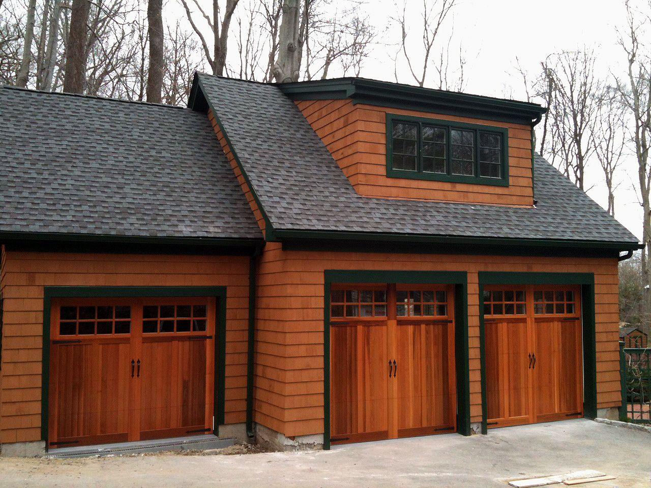 Wood Overlay Carriage House Garage Doors By C H I Overhead Doors Garage Door Design Garage Doors Carriage House Garage Doors