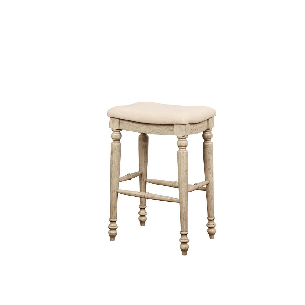 Linon Home Decor Marino 30 In White Wash Backless Bar Stool Products Backless Bar Stools Bar Stools Stool