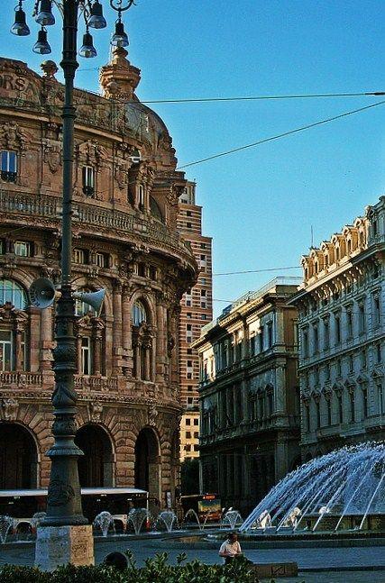 Piazza de Ferrari, Genoa, Genoa Province, Italy.