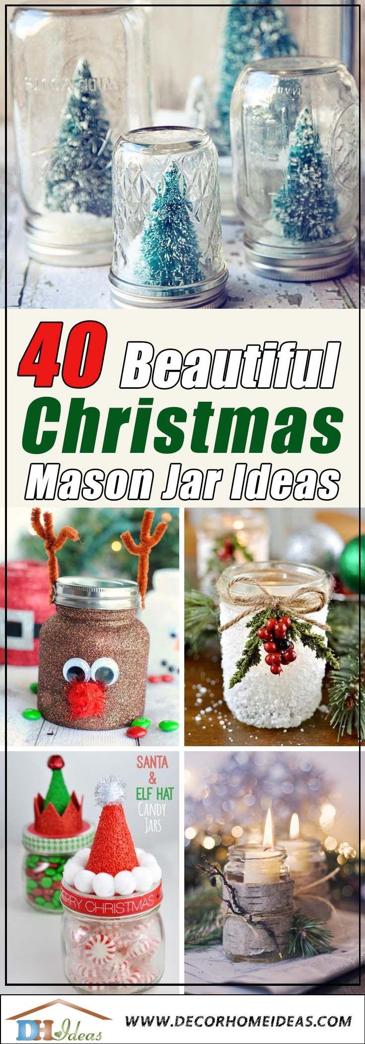 40 Beautiful Christmas Spirit Jars Ideas Decor Home Ideas Christmas Jars Christmas Mason Jars Homemade Christmas Candles