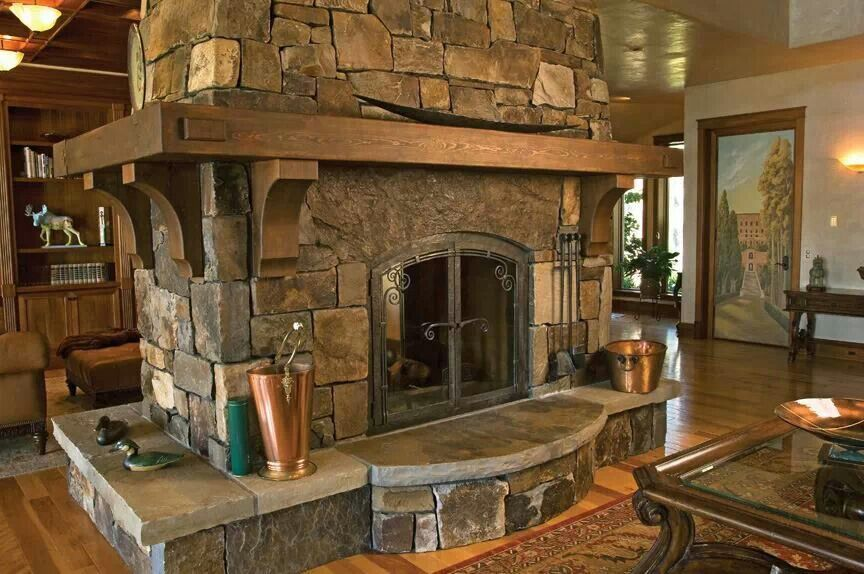 Would Love This As A Two Sided Fireplace Between The Great Room