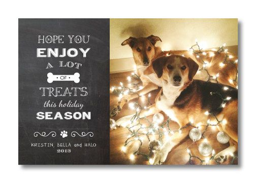 Printable Pet Christmas Card by PerfectlyPrintables on Etsy, $10.00 ...