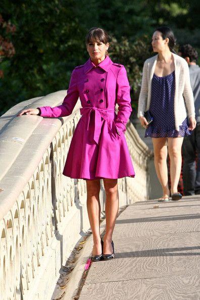 Lea Michele - Lea Michele Films in Central Park