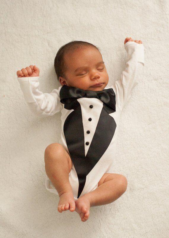 25b622917 Baby Wedding outfit - Baby Tuxedo Shirt - Baby boy Tuxedo - Baby Tuxedo - Photography  prop - baby t