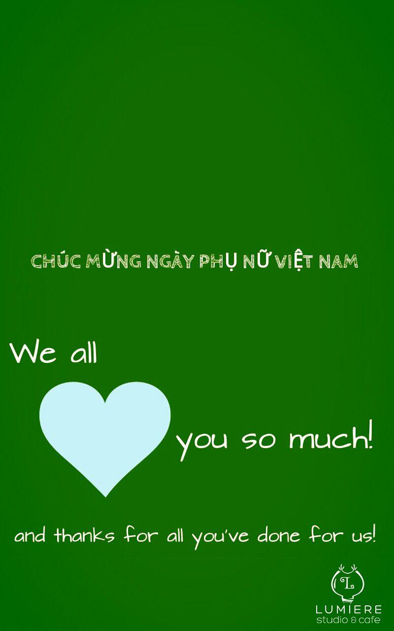 #LumiereCafe chúc mừng ngày phụ nữ Việt Nam!