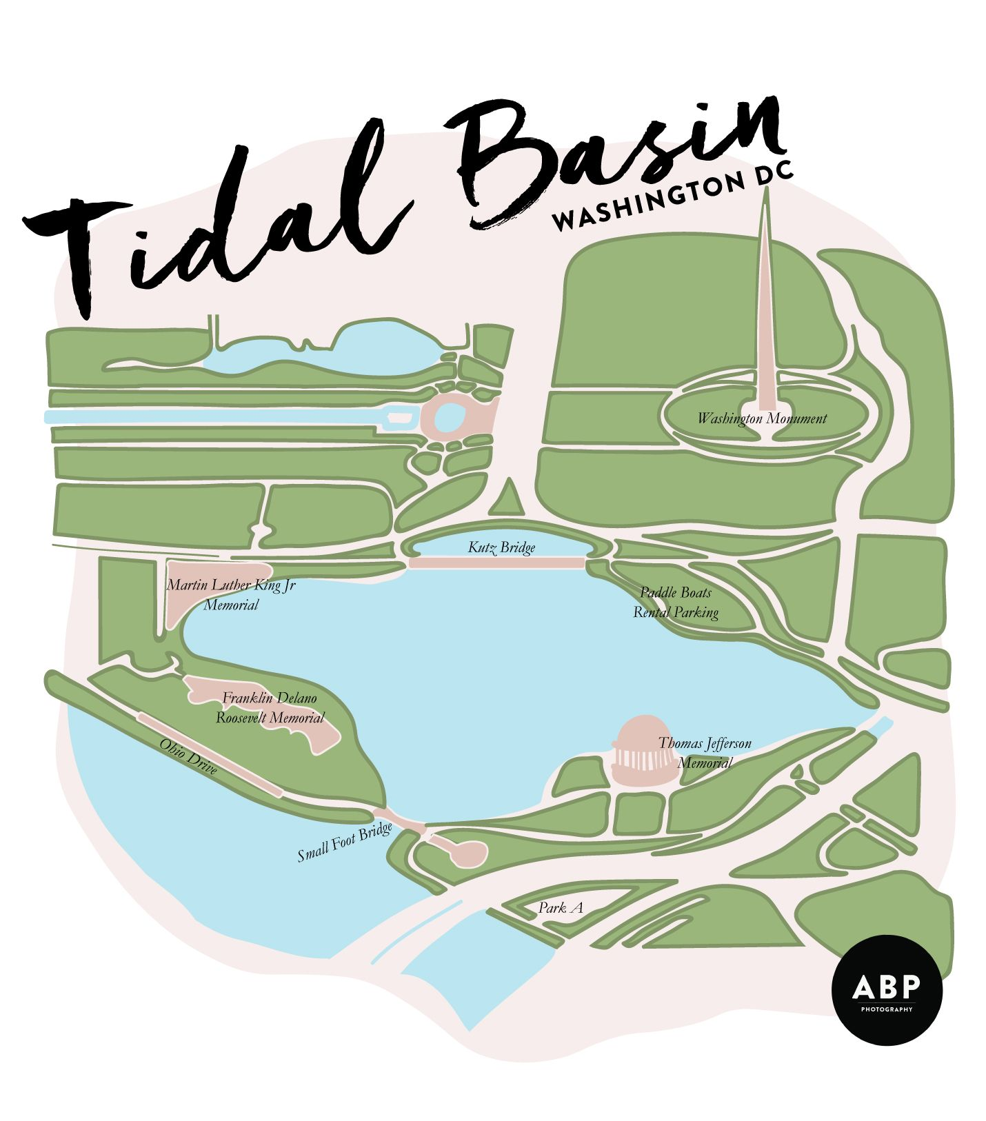 tidal basin, map, washington dc, visit, cherry blossoms, jefferson on map of dc buildings, map of washington monuments museums, map of dc landmarks, map of washington dc attractions, map of washington memorials,