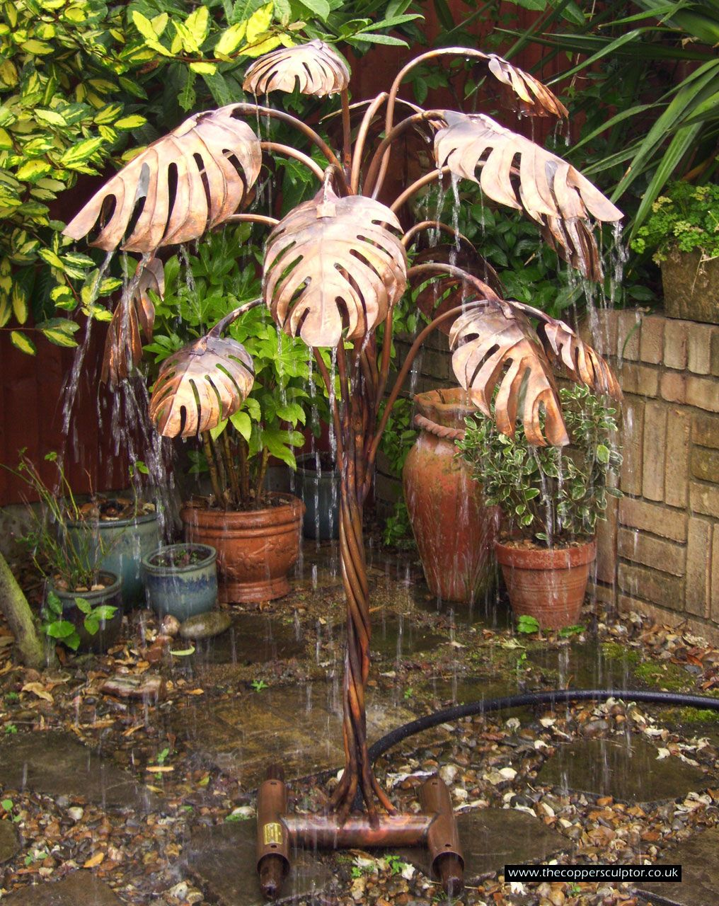 the copper sculptor specializing in copper tree water Tree Water Feature id=47876