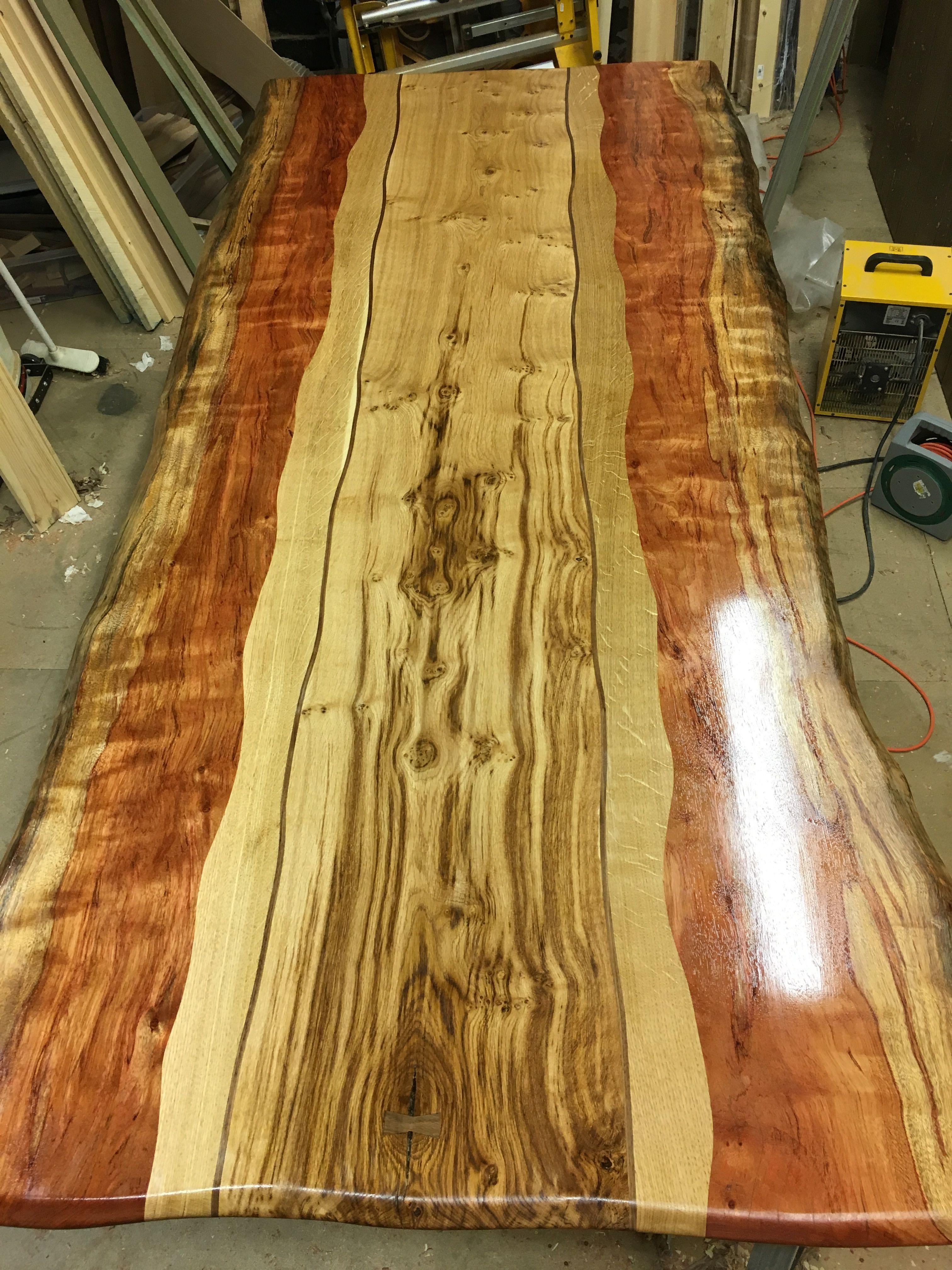 Inlaid Dining Table Bubinga Oak American Walnut Inlay Dining Table Madera