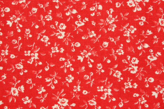Vintage Quilt Cotton Fabric Small Print 2 Yards Sewing Material