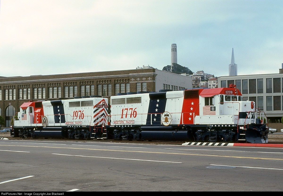 Wp 1776 Western Pacific Emd Gp40 At San Francisco California By Joe Blackwell Train Pictures Railroad Photos San Francisco