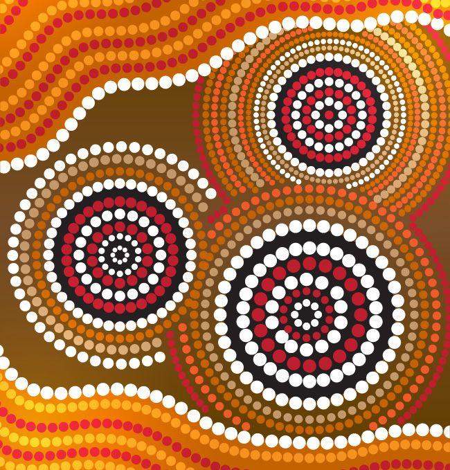 aborginal-circles.jpg (650×679) | Aboriginal Art (NZ,SWK ...