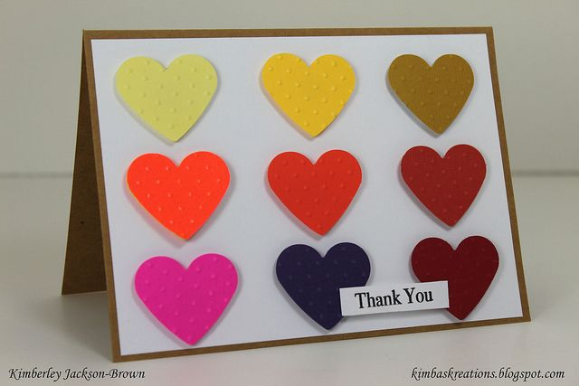 Thank you card... I would pick different colours