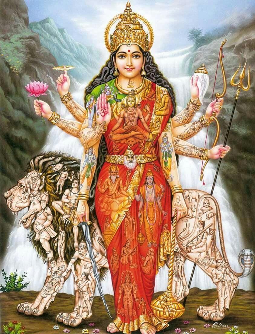 Jai Durga Maa Kali Goddess Shakti Goddess Durga