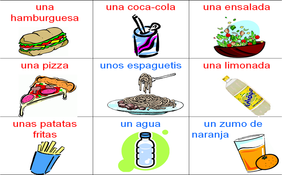 Food And Drink Vocab Spanish Desserts Fun Snacks For Kids Famous Drinks